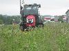 TYM Traktor T353 mit Kabine, Mähwerk und Saugcontainer